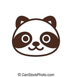 Tanuki cartoon icon.