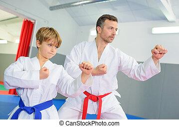 tanulás, egy, martial rajzóra