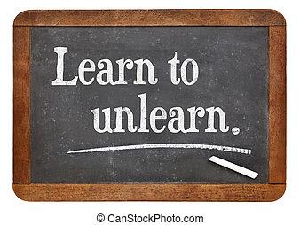 tanul, fordíts, unlearn