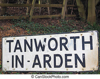 Tanworth in Arden sign