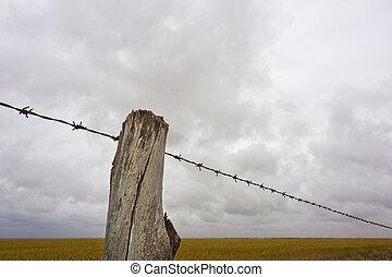 tanya, egyenes, kerítés
