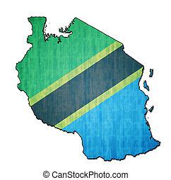 tanzânia, território, bandeira