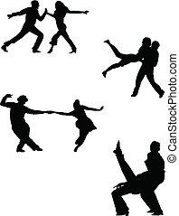 tanz, sie, buechse