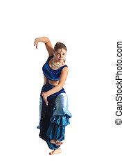 tanz, traditionelle , arabien, frau, kostüm