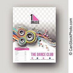 Remix, klub, plakat, flieger, schablone, party Clipart Vektor ...