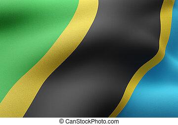 Tanzania 3d flag