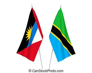 Tanzania and Antigua and Barbuda flags - National fabric ...