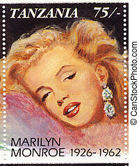 TANZANIA ? CIRCA 2003 : popular in 1960s american actress...
