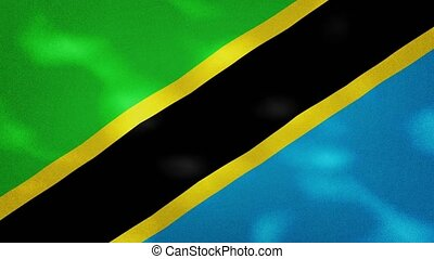 Tanzania dense flag fabric wavers, perfect loop for background