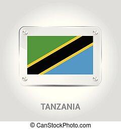 Tanzania flag design vector