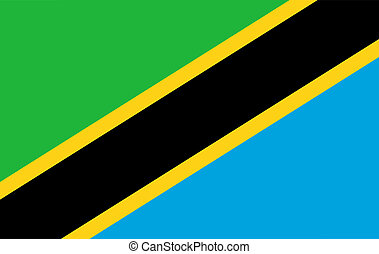 Tanzania flag. illustration