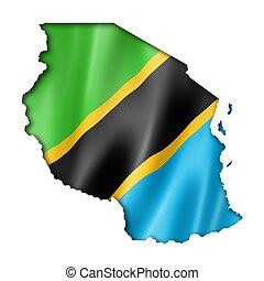 Tanzania flag map