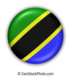 Tanzania Flag - World Flag Button Series - Africa - Tanzania...