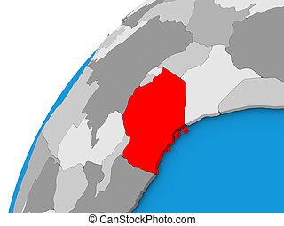 tanzania, globo, rosso