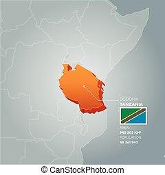 Tanzania information map.