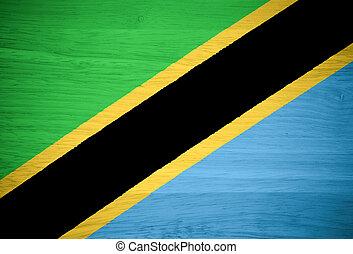 tanzania, madera, bandera, textura