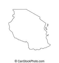 Tanzania map silhouette
