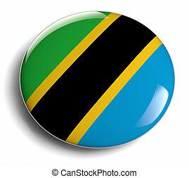 Tanzania flag design round badge.
