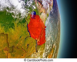 tanzania, rosso, spazio