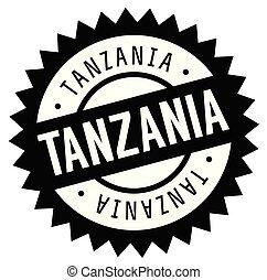 Tanzania stamp on white