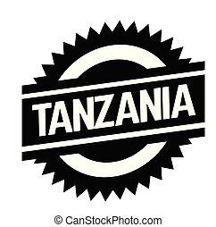 tanzania stamp on white - tanzania bl ack stamp in spanish...