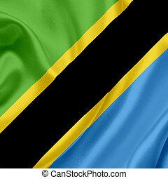 Tanzania waving flag