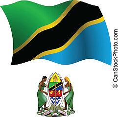 tanzania wavy flag and coat