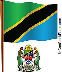 tanzania wavy flag