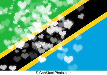 Tanzanian flag with some soft highlights and folds