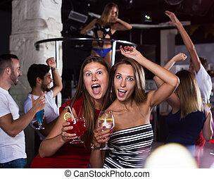tanzen, frauen, friends, klub