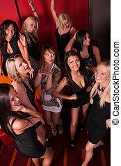 tanzen, klub, bild, mädels, hübsch, nacht