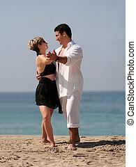 tanzen, strand