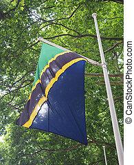 Tanzianian Flag of Tanzania