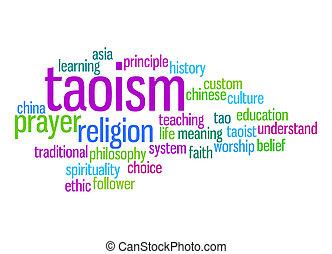 taoism, palavra, nuvem