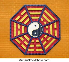 Taoist Octagonal Symbol - -- each of the eight trigrams has...