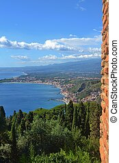 taormina, 시실리, 이탈리아, 보이는 상태
