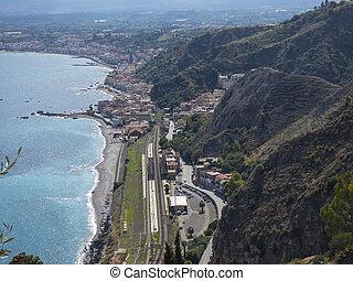 Taormina city at Sicily