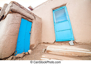 Taos Pueblo - remarkable example of a traditional type of...