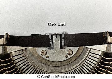 """tapé, end"""", mots, vendange, """"the, machine écrire"""