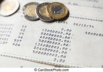 tapé machine, pièces., calculs