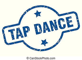 tap dance vintage stamp. tap dance sign