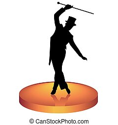 Tap dancer - The man in a hat dances tap-dancing