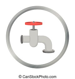 Tap icon in cartoon style isolated on white background. Build and repair symbol stock vector illustration.