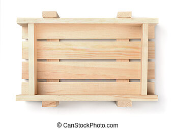 tapa de madera, cajón, fruta, vacío, vista