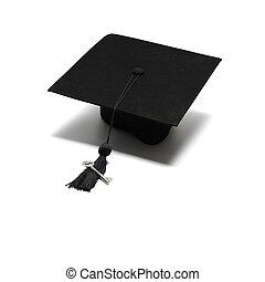 tapa graduación, con, llave
