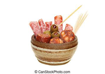 Tapas in a bowl
