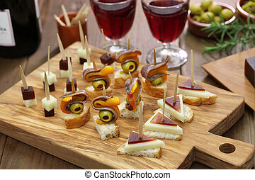 tapas, pinchos, spanish canapes, party finger food
