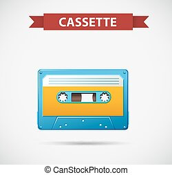 Tape cassette as retro icon