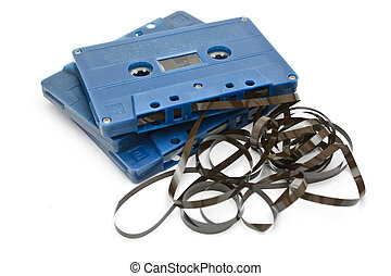 tape cassette - Audio Tape Cassette with subtracted out tape...