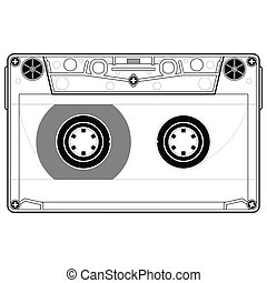 Precise copy of a tape cassette in vector